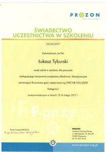 Certyfikat Prozon - Certyfikaty
