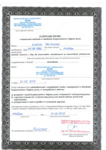 Higiena Pracy - Certyfikaty